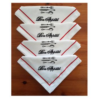 Bon appetit napkins x 4 folded PRIMARY IMAGE