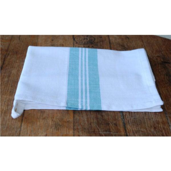 Duck Egg Blue and White Tea Towel