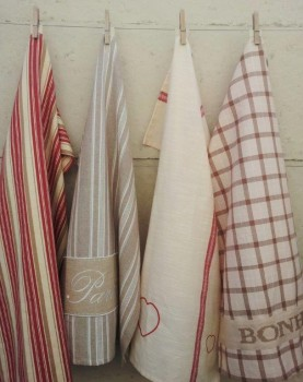 Special - 4 x French-inspired tea towels