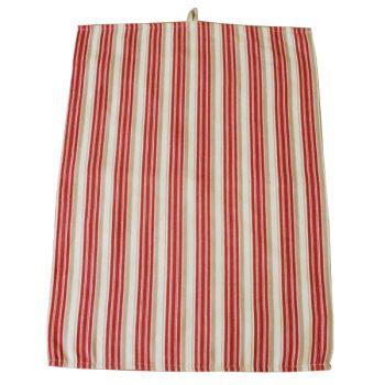 Timeless Red Stripes Tea Towel
