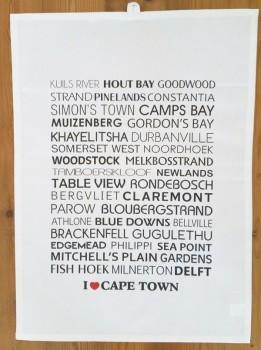 I love Cape Town Tea Towel
