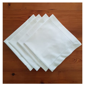 White Napkins x 4 Square