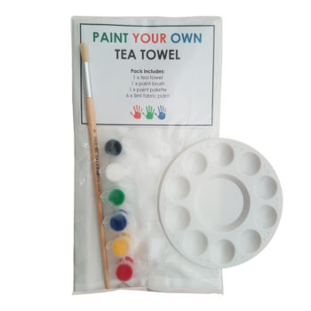 paint your own tea towel