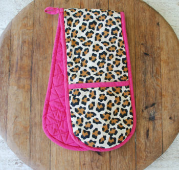 The Pink Leopard Double Oven Glove