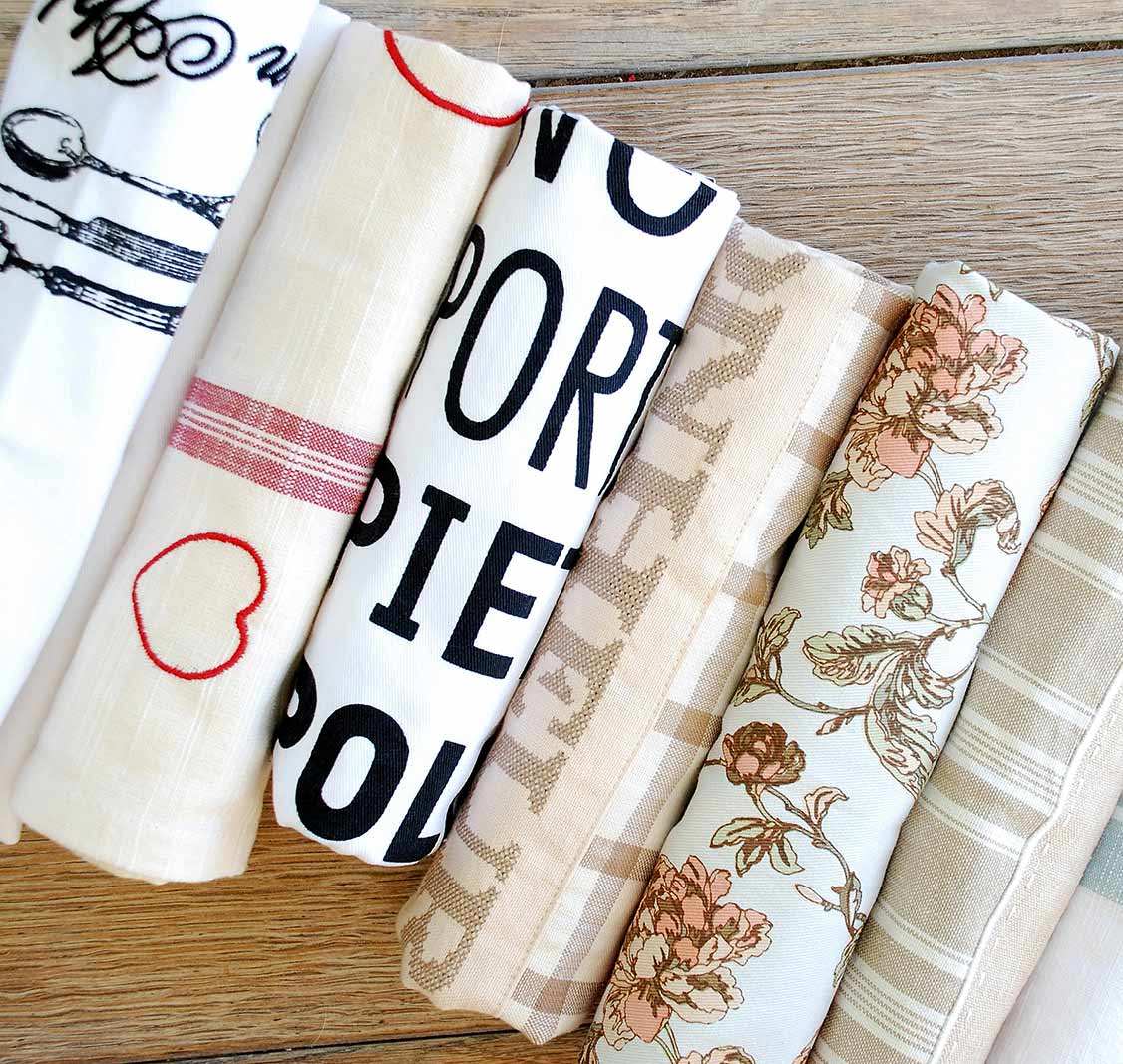Rolled up tea towel