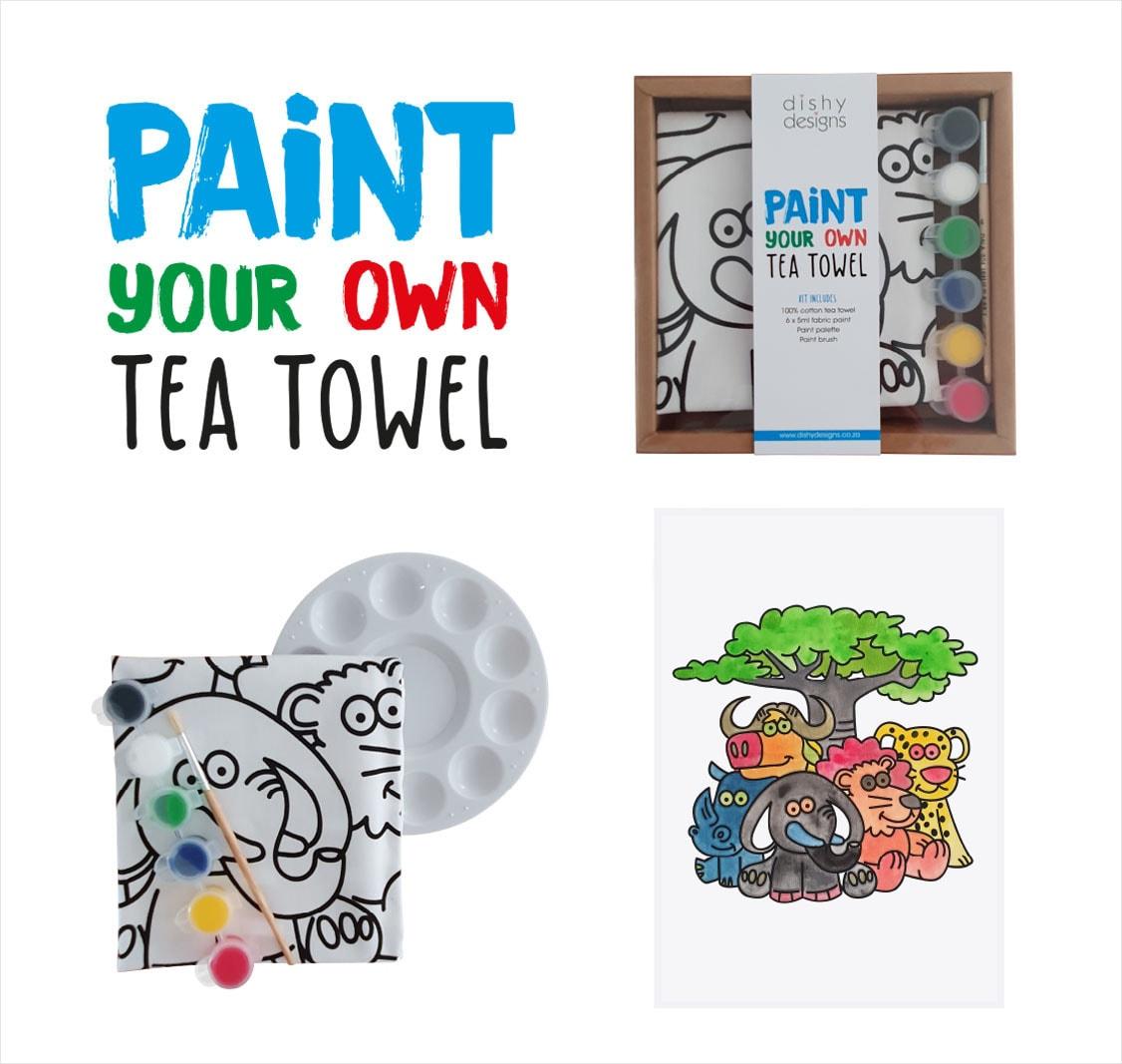 Paint your own tea towel