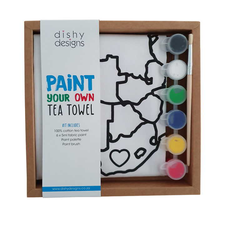 Paint Your Own tea towel Africa in box 5